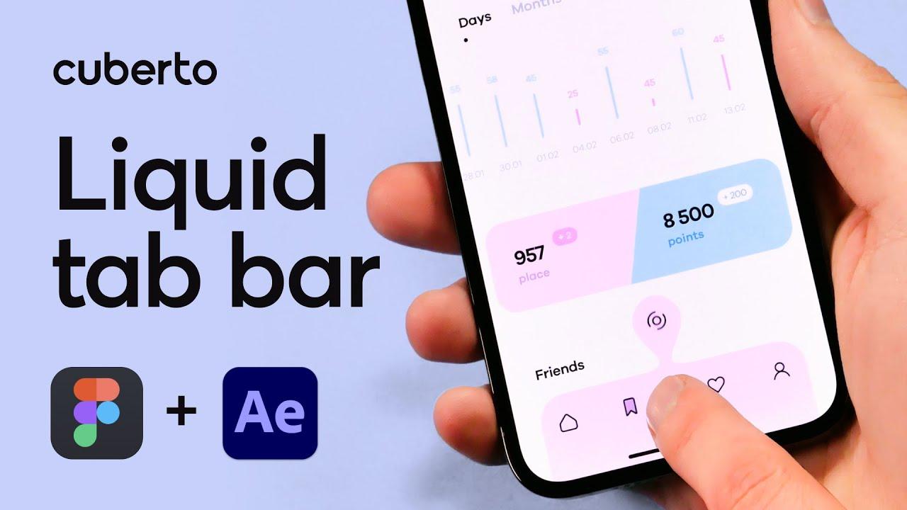 Tab bar liquid animation / Design Tutorial