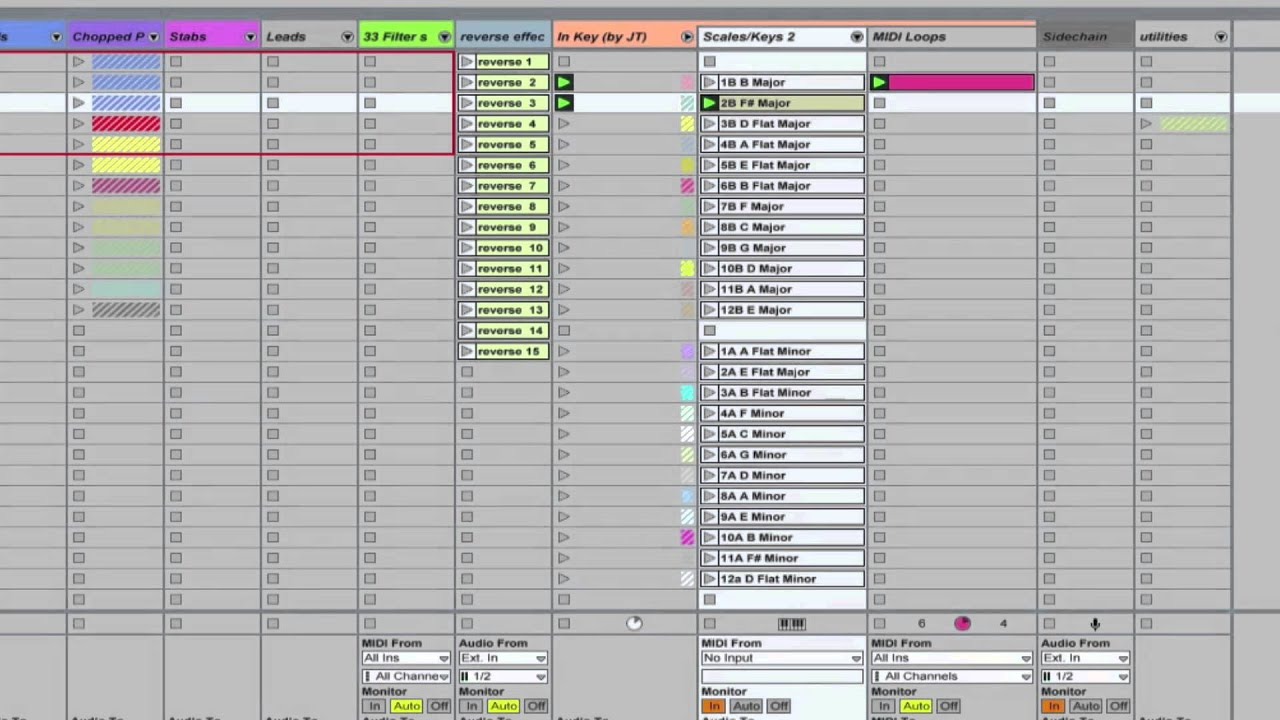 Ableton Master Template Always In Key Tutorial Never Hit A Wrong Note