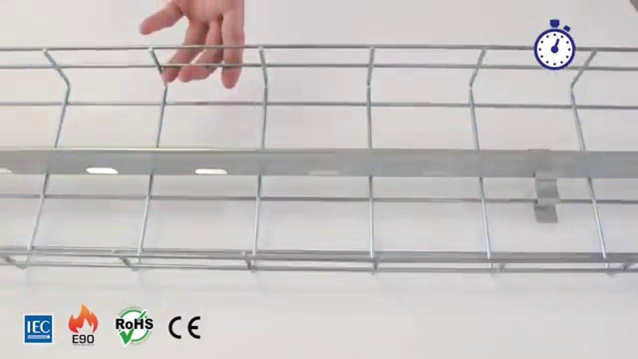 EC-CLICK cable tray divider from VALDINOX - YouTube
