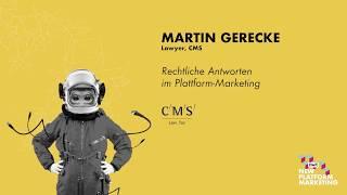 Martin Gerecke, Anwalt CMS   NPM17