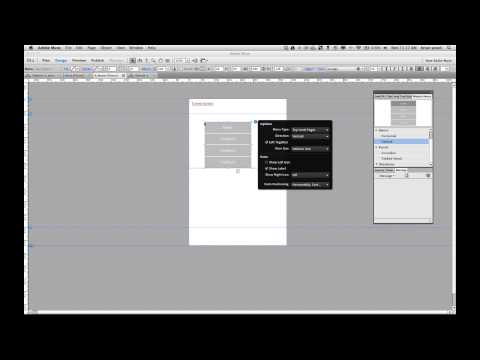 Add a cool sliding menu to Adobe Muse mobile site