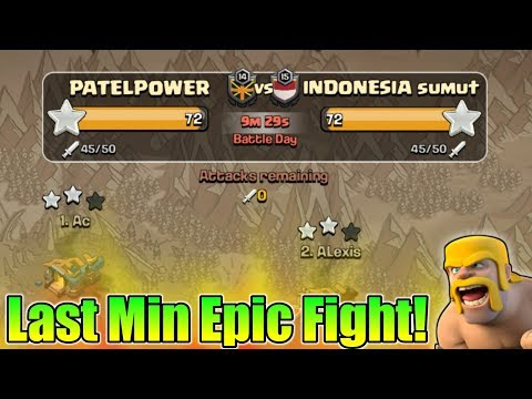 Last Few Min Insane Epic Fight In Clan War | Who Will Win This War? | Clash Of Clans