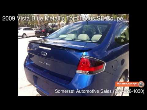 2009 Vista Blue Metallic Ford Focus SE Coupe - Fort Myers FL 33912 - Used Cars & 2009 Vista Blue Metallic Ford Focus SE Coupe - Fort Myers FL ... markmcfarlin.com