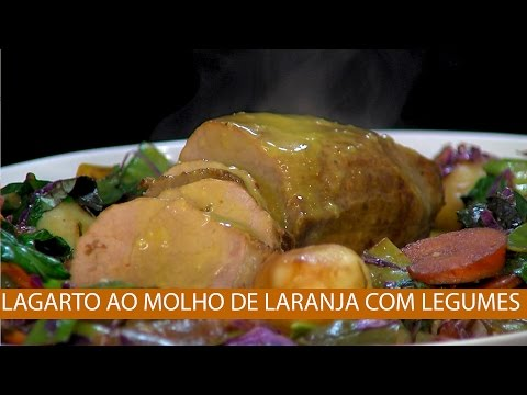 LAGARTO AO MOLHO DE LARANJA COM LEGUMES