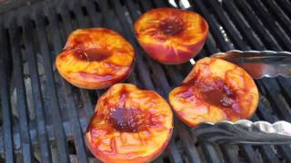Barbecued Peaches - Great Summer Grilling Side Dish
