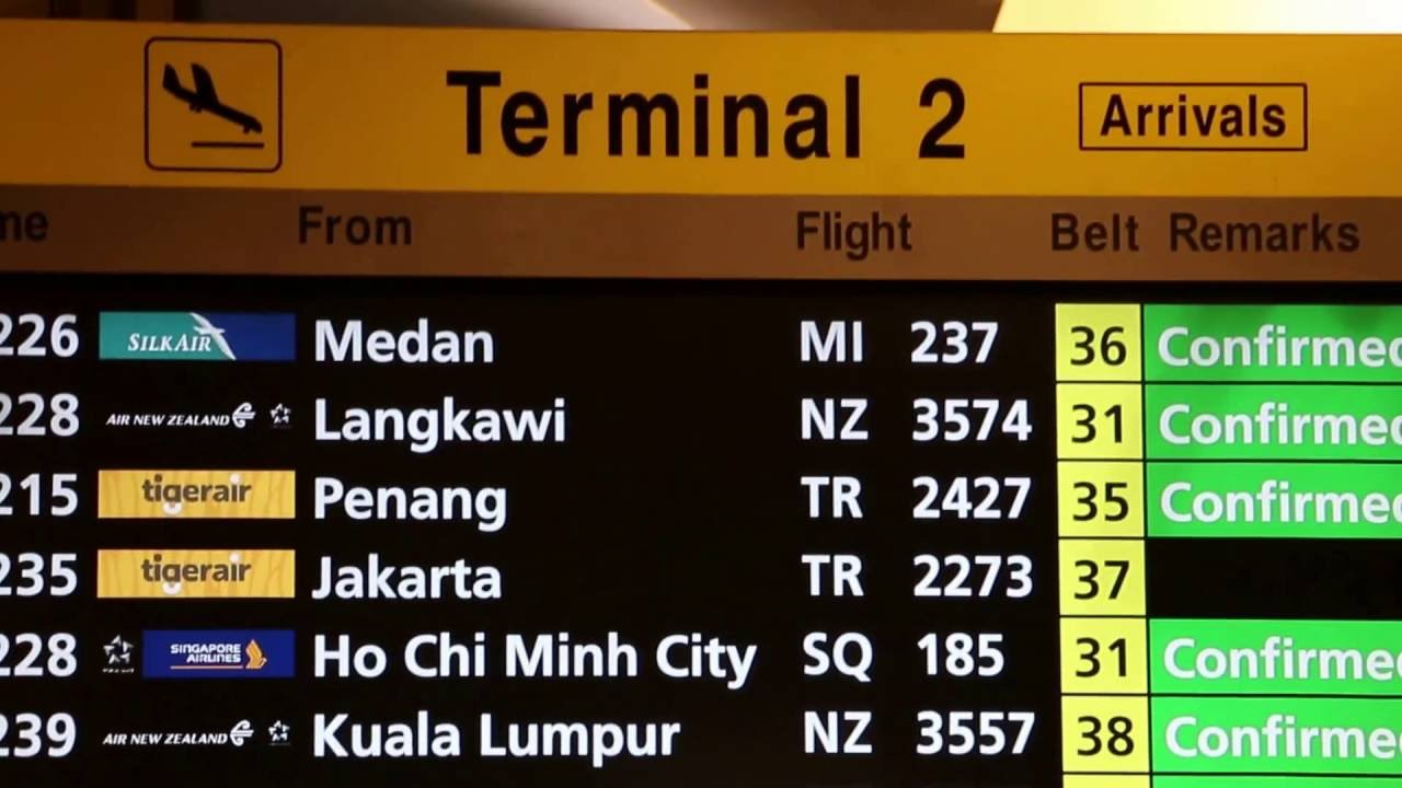 changi airport flight schedule