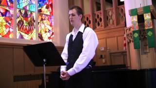 His eye is on the sparrow - charles h. gabriel. my first live performance as a soloist during mass back in august of 2013. recorded 08/04/2013