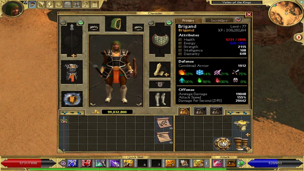 Titan Quest - Brigand build possible damage 83466