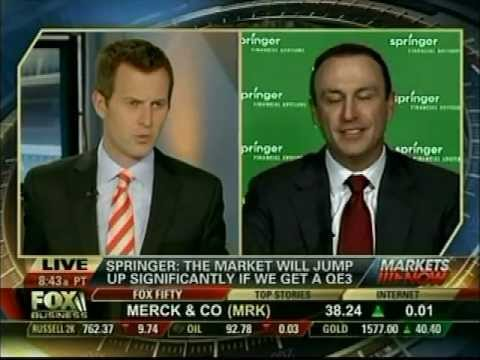 Keith Springer - Fox Business News Warning Signs of a Market Top, Unless Bernanke Saves the Day