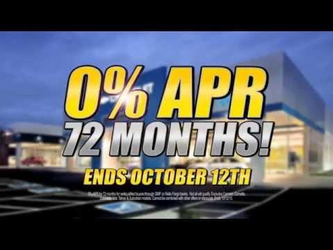 Wilson County Motors 0% apr 72 Month Sale Best Chevy Deals October 2015