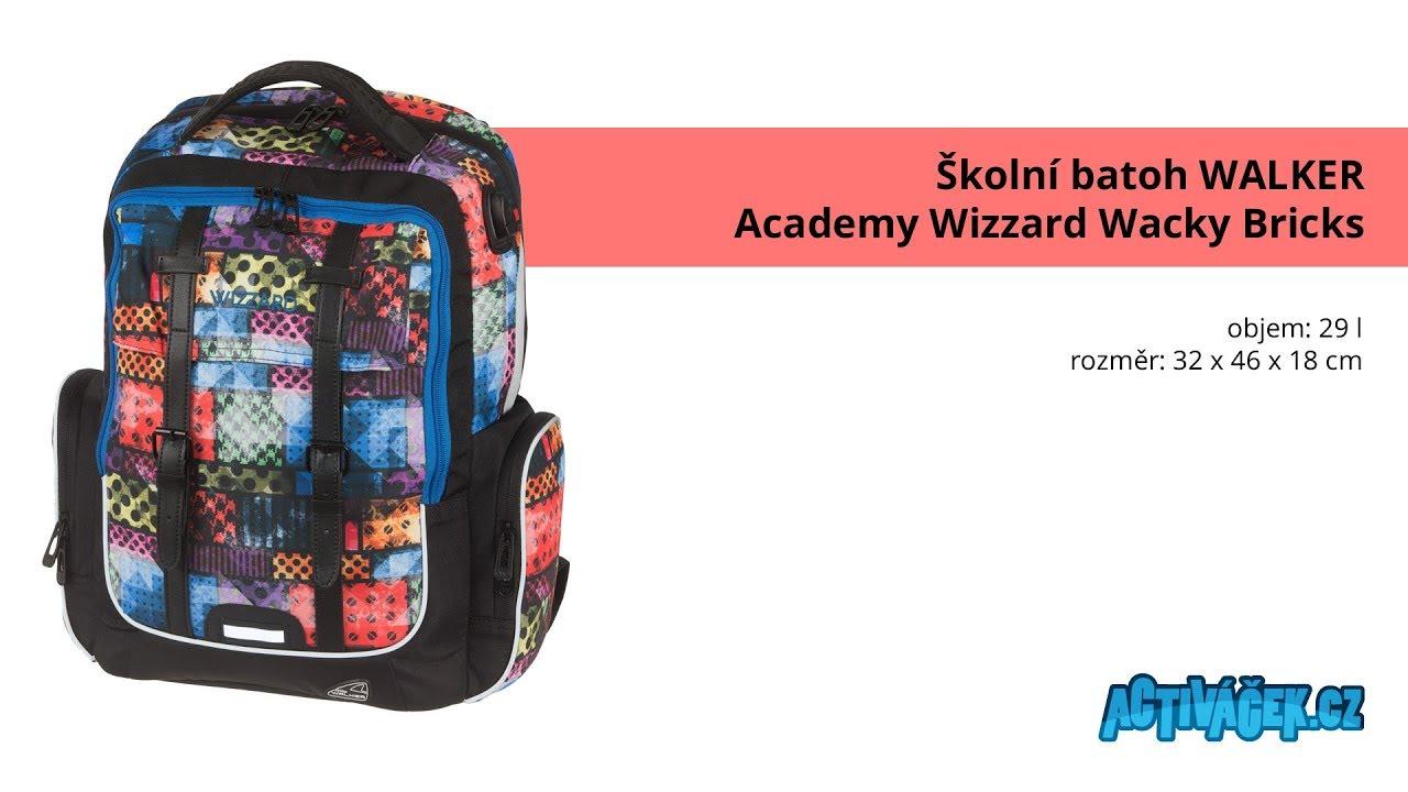 Školní batoh Walker Academy Wizzard Wacky Bricks - YouTube 33561296e0