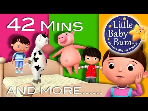 Five Little Baby Bum Friends Jumping On The Bed | Plus Lots More Nursery Rhymes | By LittleBabyBum!