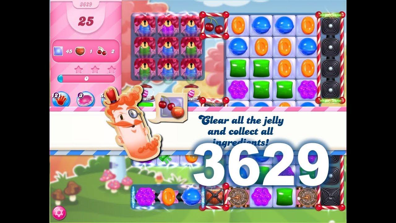 Candy Crush Saga Level 3629 (3 stars, No boosters)