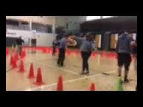 Video by Kristen Quon: Sullivan North HIgh School students Thursday, March 8, 2018, try to perform a