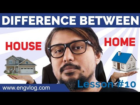 Difference between HOUSE and HOME। English Word Usage, Lesson #10 । #EngVlog