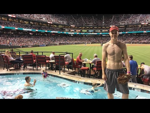 Checking Out The Swimming Pool At Chase Field