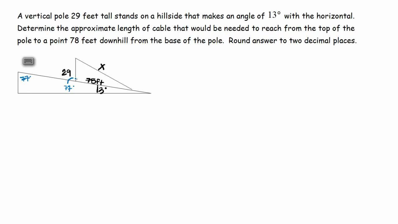 Uncategorized Law Of Cosines Worksheet law of sines worksheet word problems cosines problem application youtube
