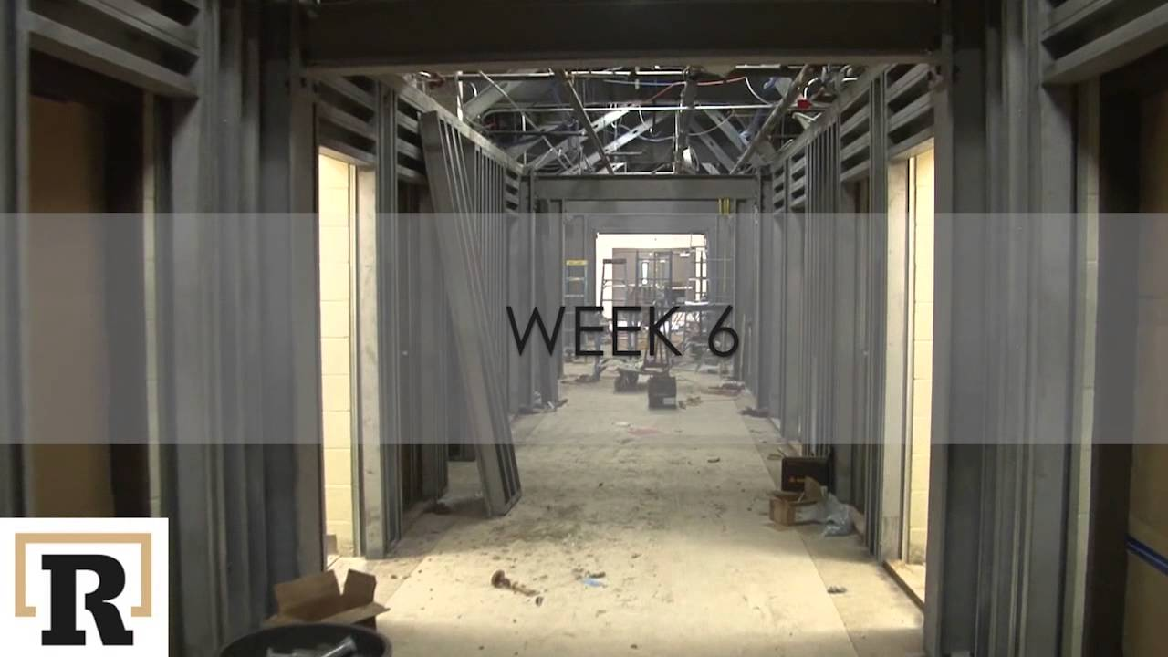 School tornado safe room construction time lapse video for Vault room construction
