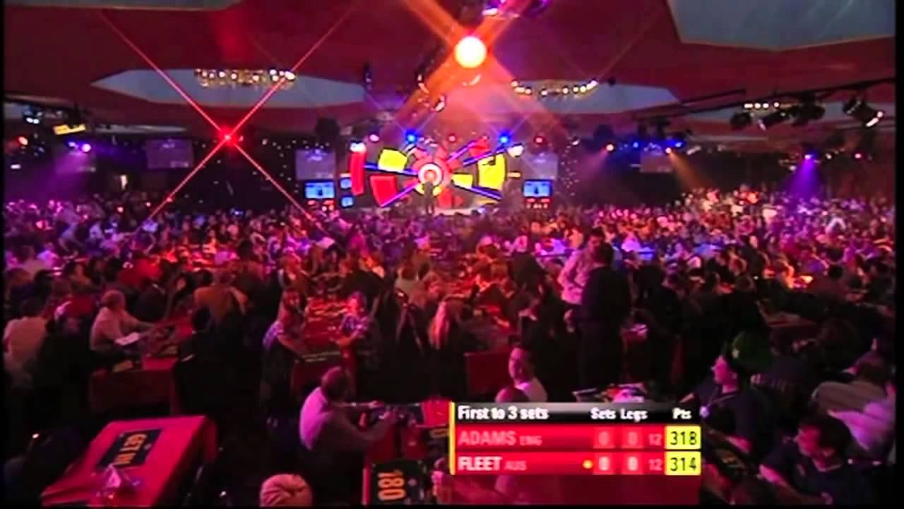 Lakeside nervous darts player Anthony Fleet vs Martin ...