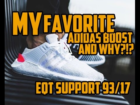 Adidas EQT SUPPORT 93/17 Core White Turbo Red Size 11.5
