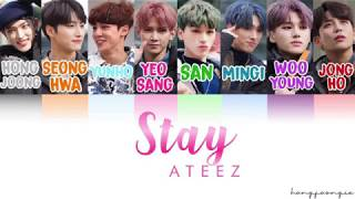 Ateez  에이티즈 - Stay  Color Coded Han/rom/eng
