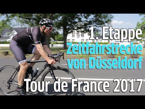 Tour de France 2017: Erste Etappe - Zeitfahrstrecke in Düsseldorf