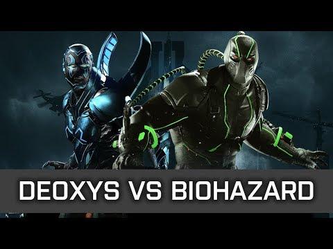 Injustice 2 - High Level FT10 - Deoxys (Blue Beetle) vs Biohazard (Bane)