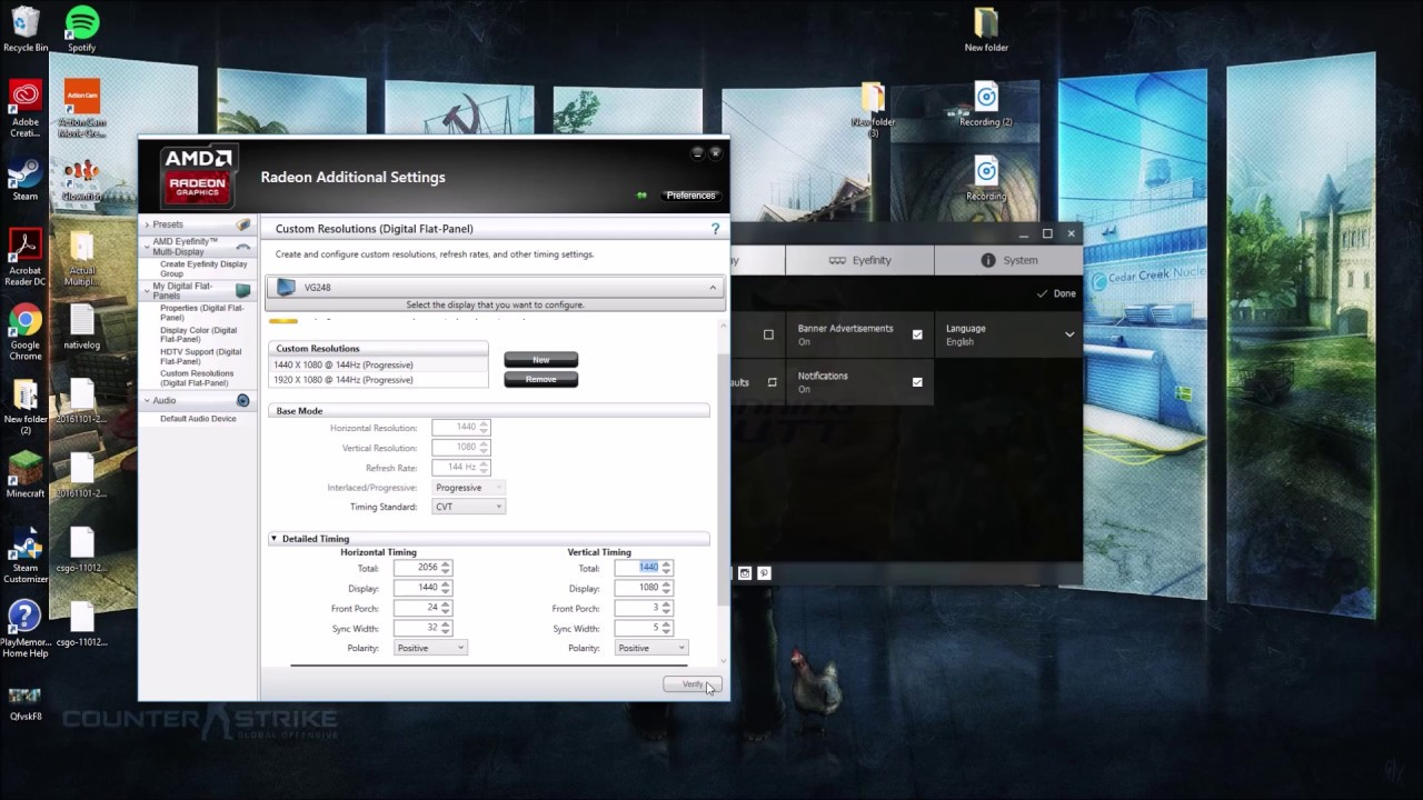 CSGO STRETCHED 1440x1080 AMD(NEW VIDEO MADE)