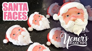 How to Make SANTA FACES for Christmas Cakes | Yeners Cake Tips with Serdar Yener from Yeners Way
