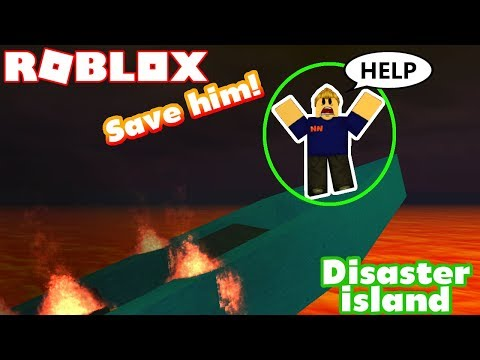 Survive the rising LAVA!! - Roblox Disaster Island (Disaster Survival)