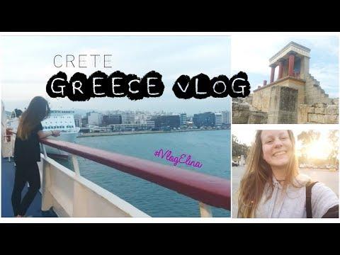Travel with Elina #4: GREECE VLOG- Spring school trip 2017 in CRETE (Part 1)   ELINA