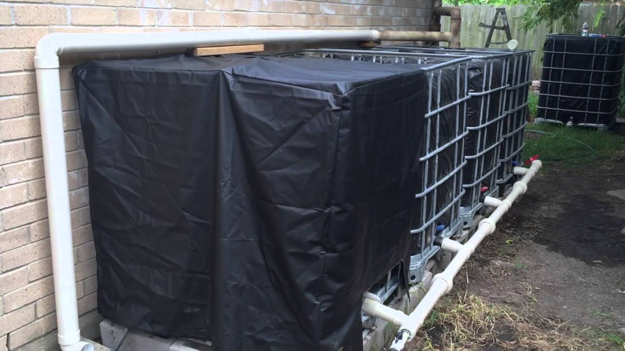 Step 1 2 Ibc Rainwater Harvesting System Covering