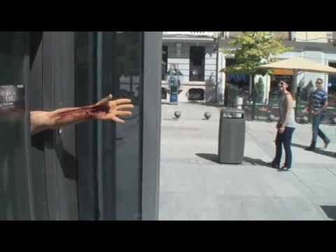 Guerrilla Marketing Example - Resident Evil Arms in Street
