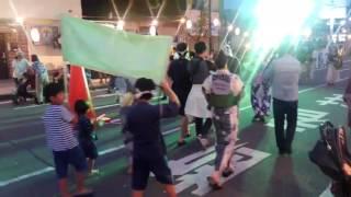 ミ 2017/ 7/30 〈SUN〉 行田浮き城祭りにて 踊り連「行田うきしろ吹奏楽...