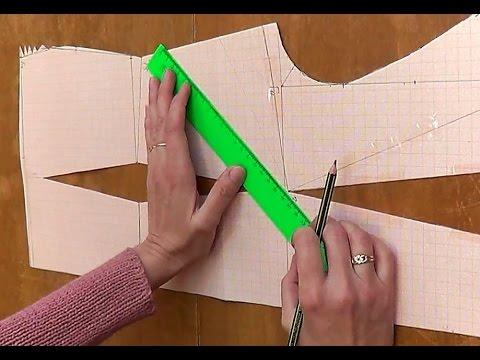 Моделирование лифа. Перенесение нагрудной вытачки в боковой срез.