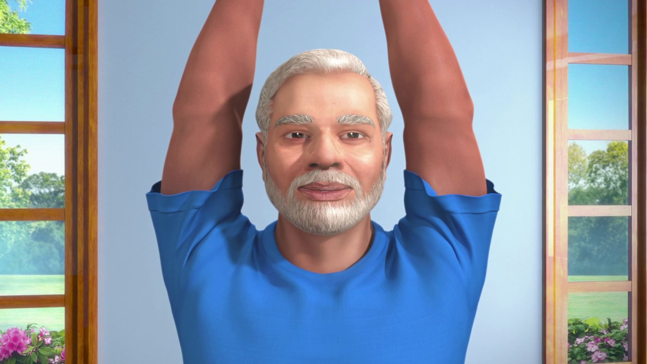 Yoga with Modi: Tadasana Hindi