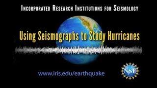 Study Hurricane Strength using Seismographs (Educational)