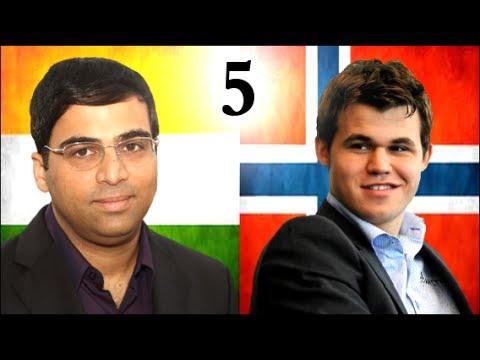 Magnus Carlsen vs Vishy Anand - 2013 World Chess Championship - Game 5