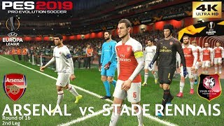 PES 2019 (PC) Arsenal vs Rennes | UEFA EUROPA LEAGUE ROUND OF 16 | 14/3/2019 | 4K 60FPS