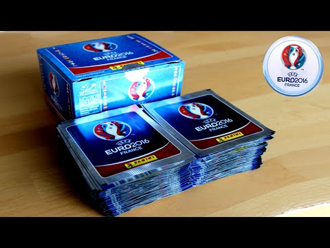 UNBOXING BOOSTER BOX (500 STICKER)  | Panini UEFA EURO 2016 Sticker Collection | 100 PACKS!!!
