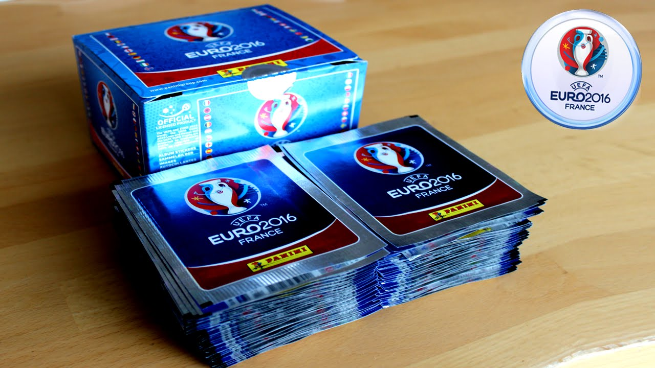 Unboxing Booster Box 500 Sticker Panini Uefa Euro 2016