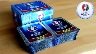 UNBOXING BOOSTER BOX (500 STICKER)  | Panini UEFA EURO 2016 Sticker Collection | 100 PACKS!!! thumbnail