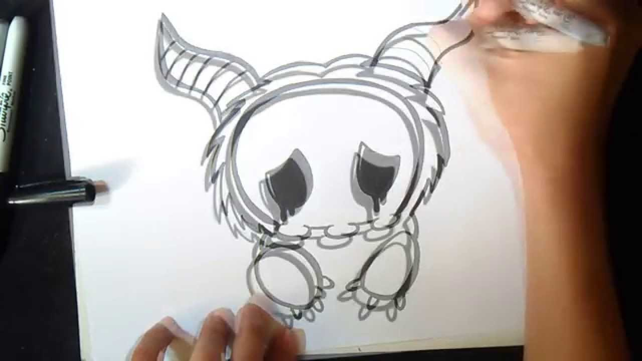 Comment dessiner un monstre graffiti youtube - Tete de monstre a dessiner ...