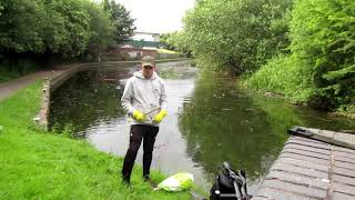 Magnet Fishing - Almost fell in the canel!!!