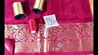 Wedding silk saree blouse - diy