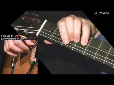 LA PALOMA: Easy Guitar Lesson + TAB by GuitarNick