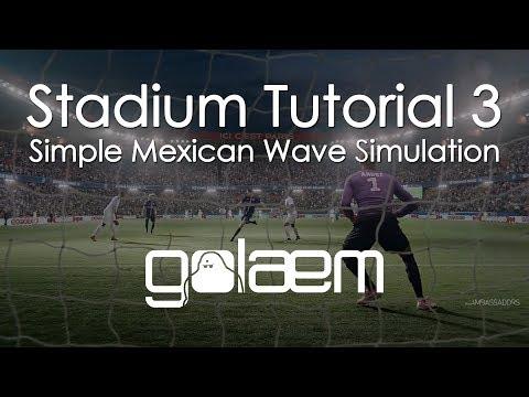 Stadium Tutorial 3 - Simple Mexican Wave Simulation