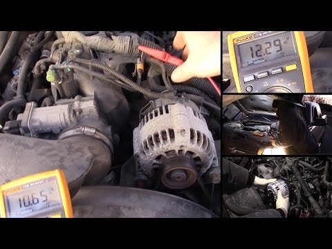 2001 chevy truck alternator wiring 2003 2004 silverado tahoe alternator testing test the turn on  2003 2004 silverado tahoe alternator