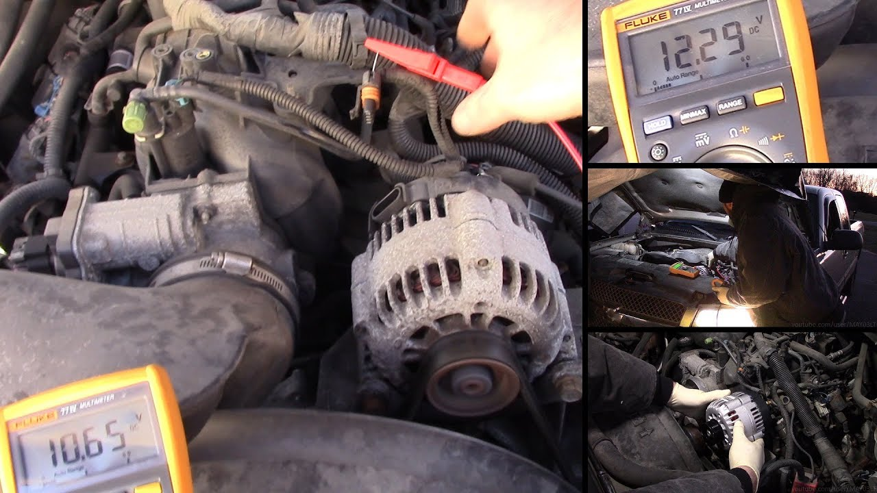 medium resolution of 2003 2004 silverado tahoe alternator testing test the turn on wire