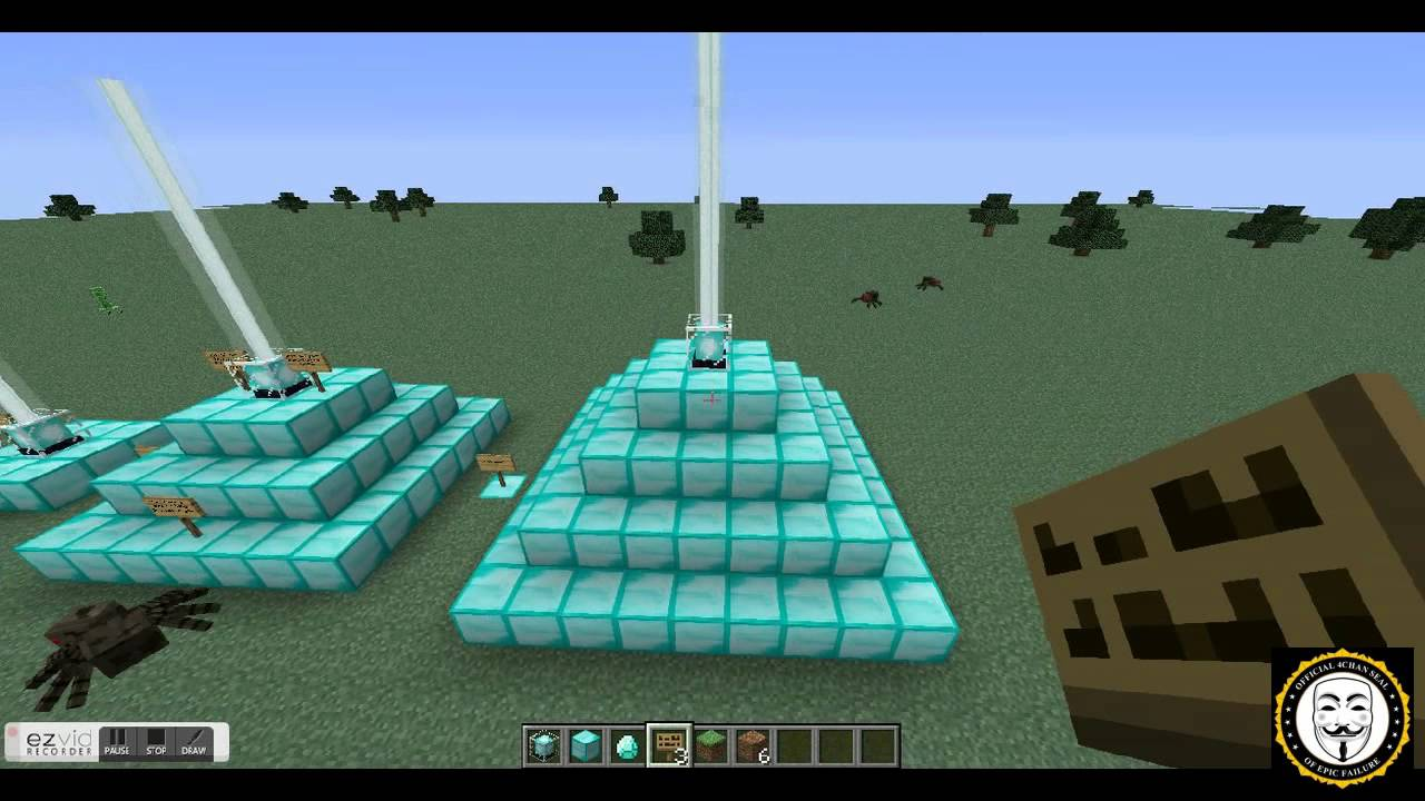 How to use the Beacon in Minecraft 9.9.9 - YouTube